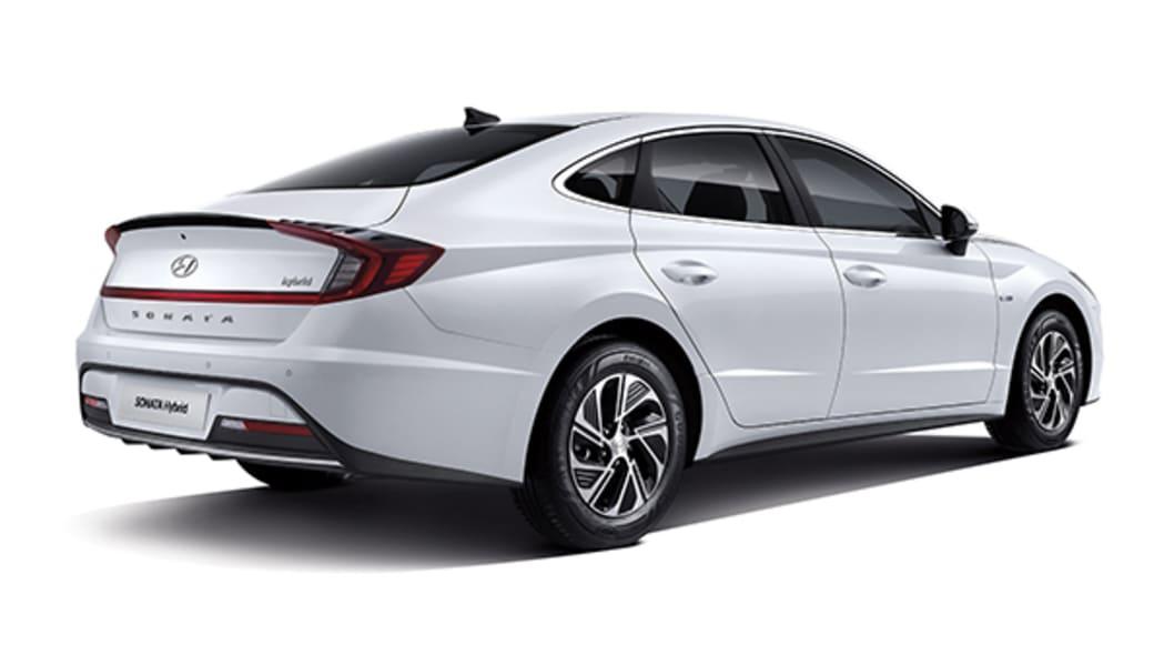 2020 Hyundai Sonata Hybrid rear 3/4
