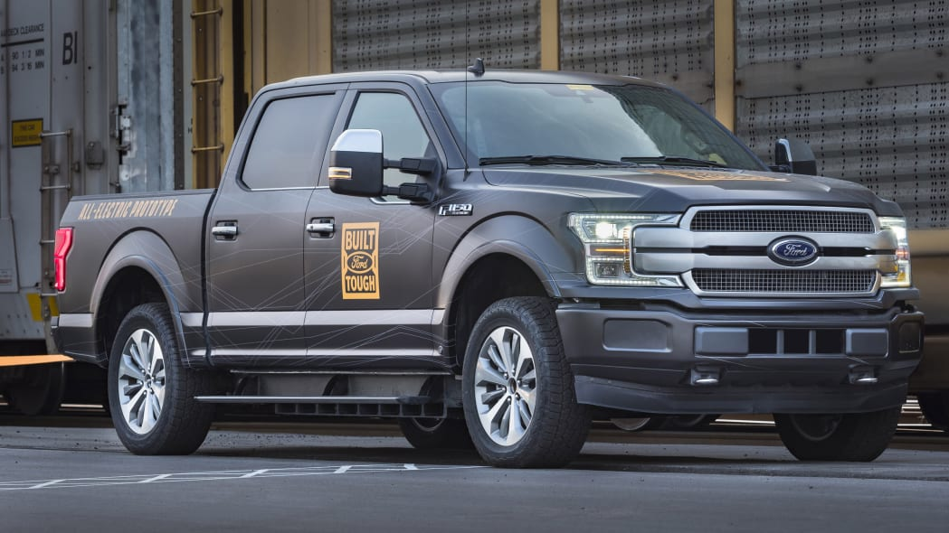 Electric Ford F-150 Towing