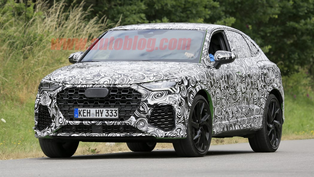 2020 Audi RS Q3 Sportback spied with low roofline