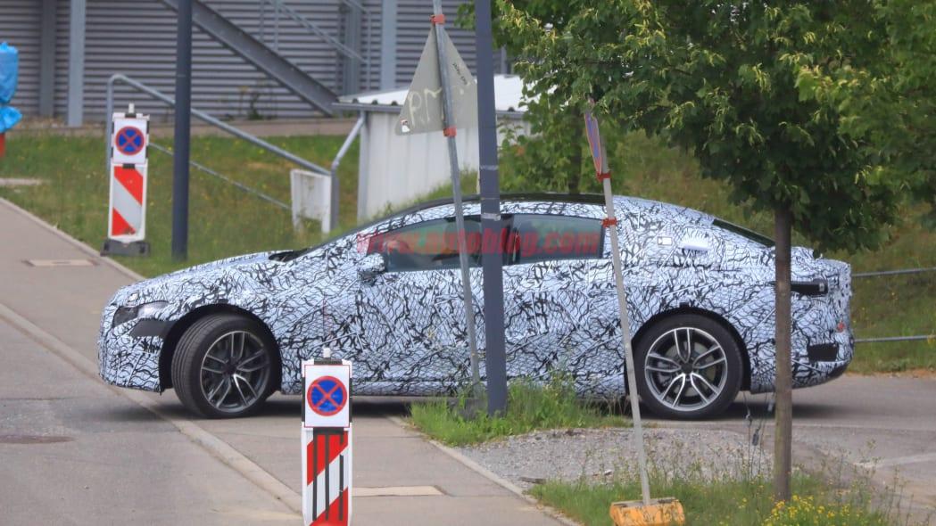 Mercedes EQS spied
