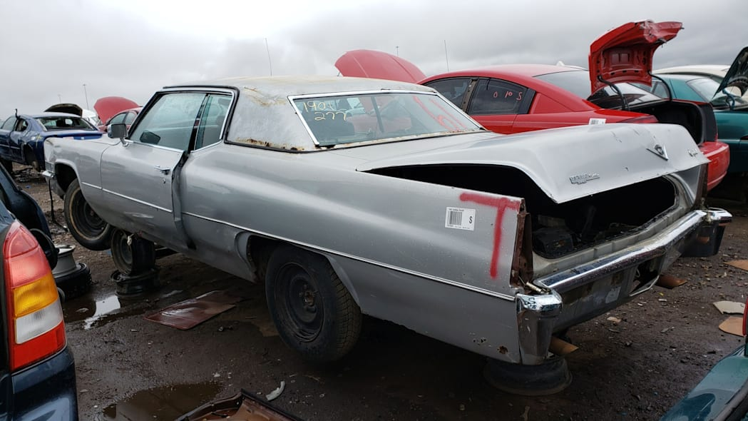10 - 1969 Cadillac Deville in Colorado wrecking yard - photo by Murilee Martin
