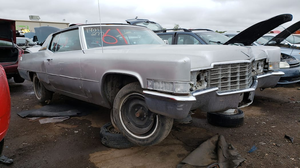 25 - 1969 Cadillac Deville in Colorado wrecking yard - photo by Murilee Martin