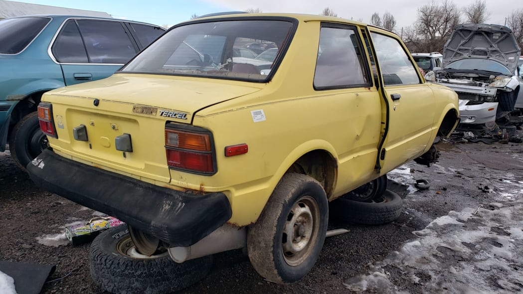 39 - 1982 Toyota Tercel in Colorado wrecking yard - photo by Murilee Martin