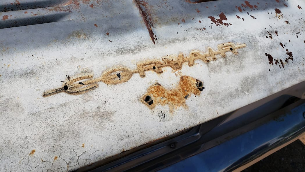 25 - 1963 Chevrolet Corvair Monza in Colorado wrecking yard - photo by Murilee Martin