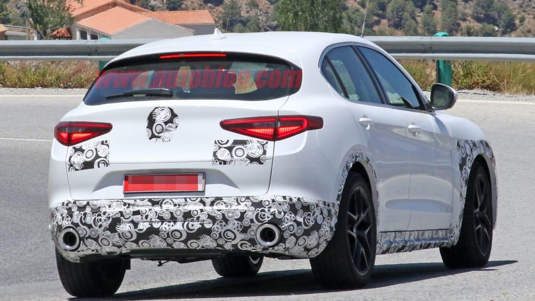 Alfa Romeo Stelvio Facelift Spied Running Around On Public