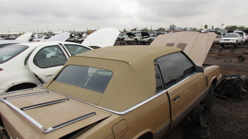 09 - 1985 Dodge 600 convertible in Arizona wrecking yard - photo by Murilee Martin
