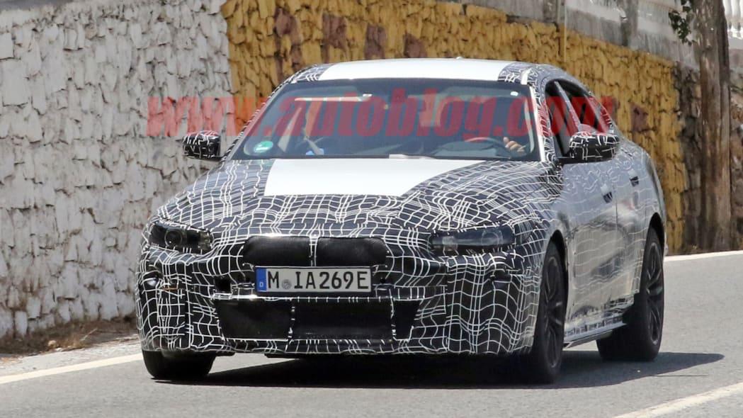 BMW i4 sedan spied hot-weather testing in Europe