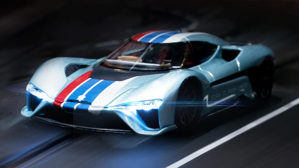 Nio EP9 Carrera slot car in silver