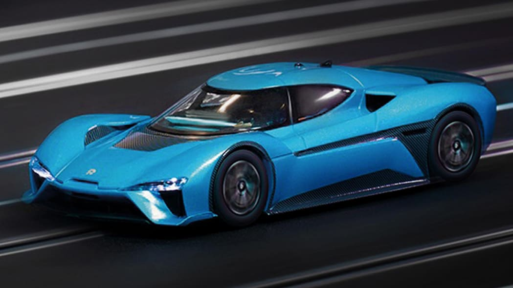 Nio EP9 Carrera slot car in blue