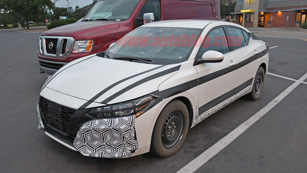 2021 Nissan Sentra spied with interior exposed, showing off manual transmission