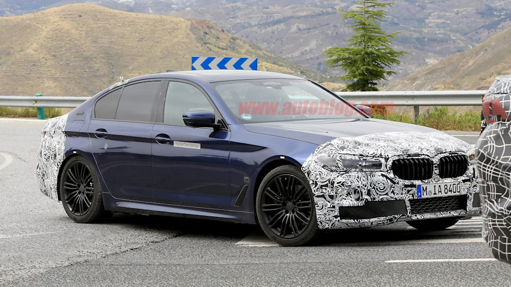BMW 5 Series in camouflage