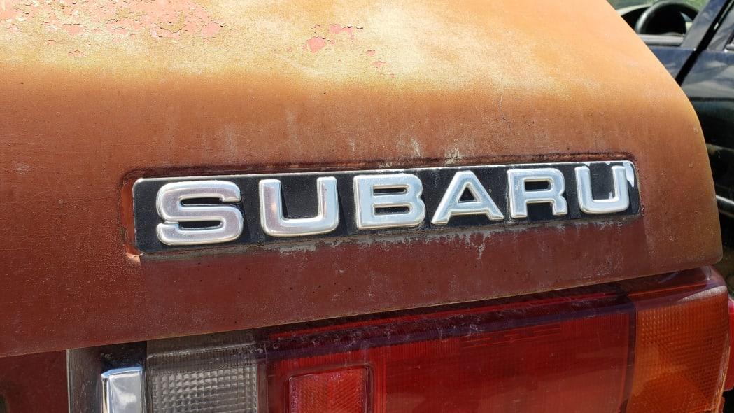 10 - 1980 Subaru in Colorado wrecking yard - photo by Murilee Martin