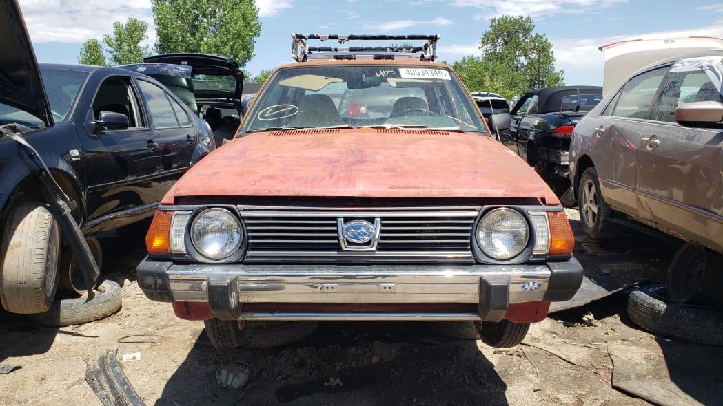 42 - 1980 Subaru in Colorado wrecking yard - photo by Murilee Martin