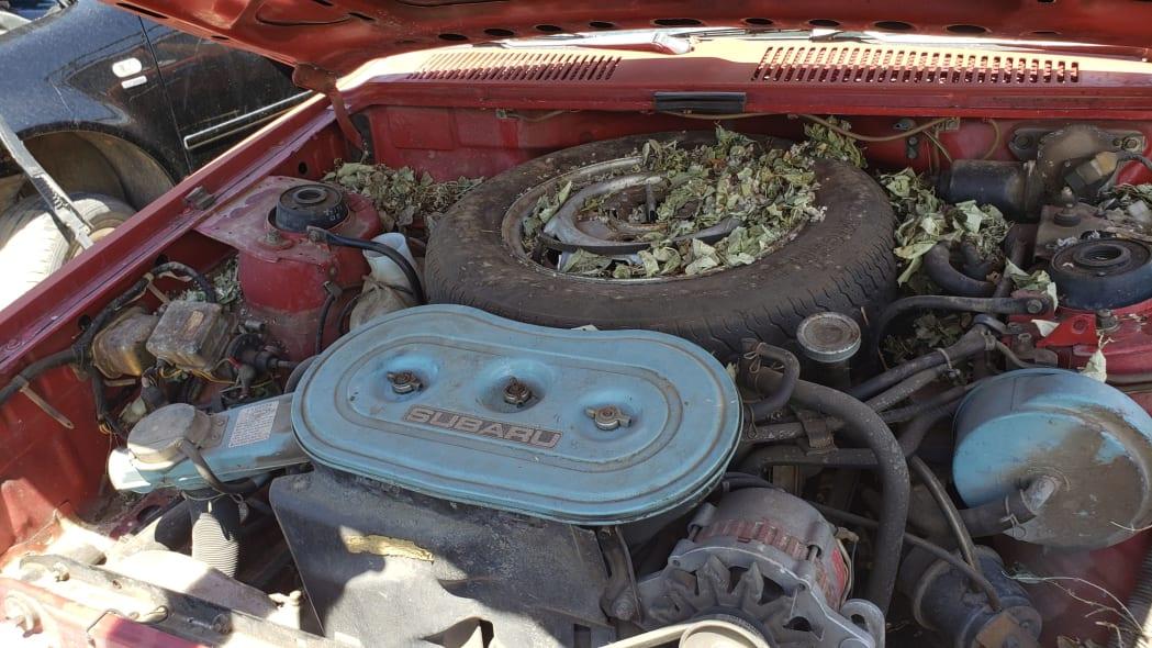 58 - 1980 Subaru in Colorado wrecking yard - photo by Murilee Martin