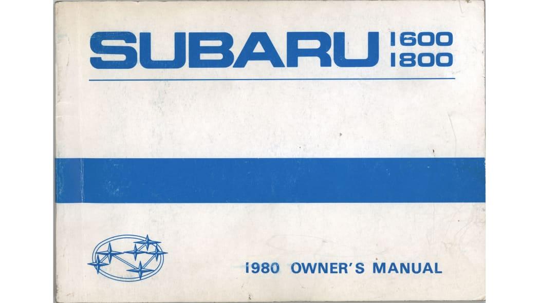 80 Subaru Driver Manual 4
