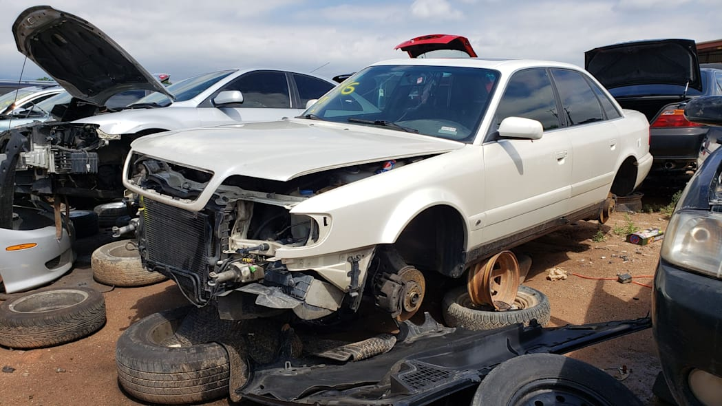 00 - 1995 Audi S6 in Colorado wrecking yard - photo by Murilee Martin