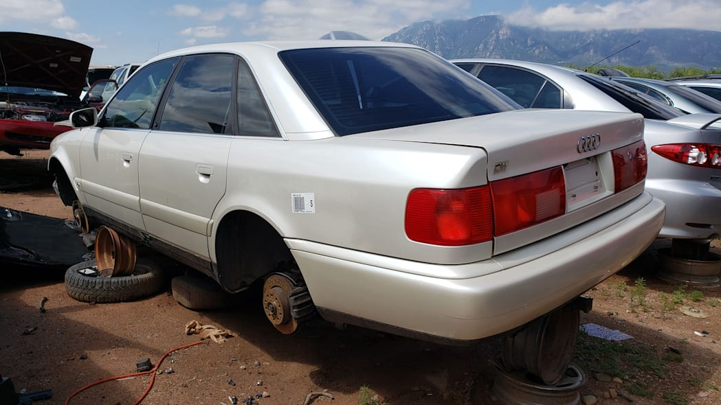 32 - 1995 Audi S6 in Colorado wrecking yard - photo by Murilee Martin