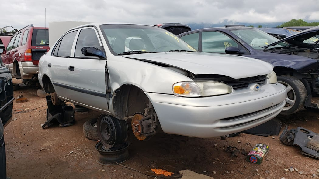00 - 2002 Chevrolet Prizm in Colorado wrecking yard - photo by Murilee Martin