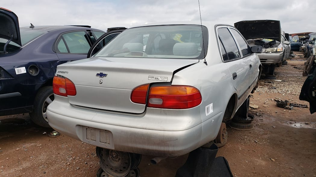 28 - 2002 Chevrolet Prizm in Colorado wrecking yard - photo by Murilee Martin