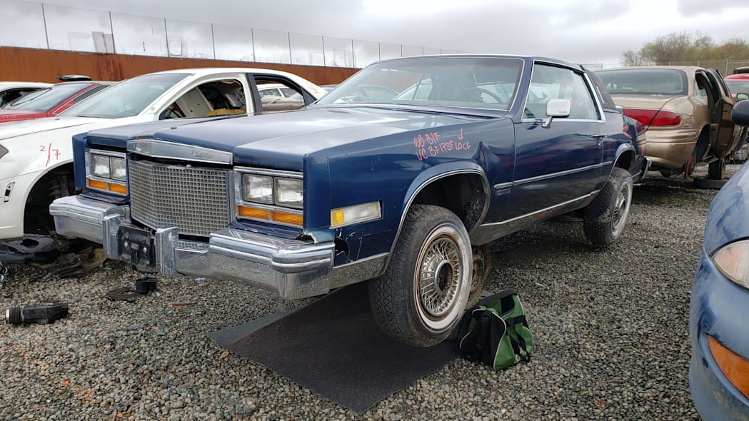 00 - 1981 Cadillac Eldorado in California wrecking yard - photo by Murilee Martin