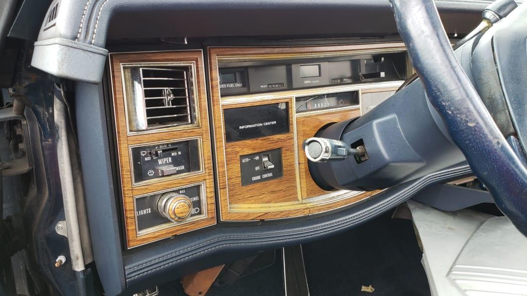 03 - 1981 Cadillac Eldorado in California wrecking yard - photo by Murilee Martin