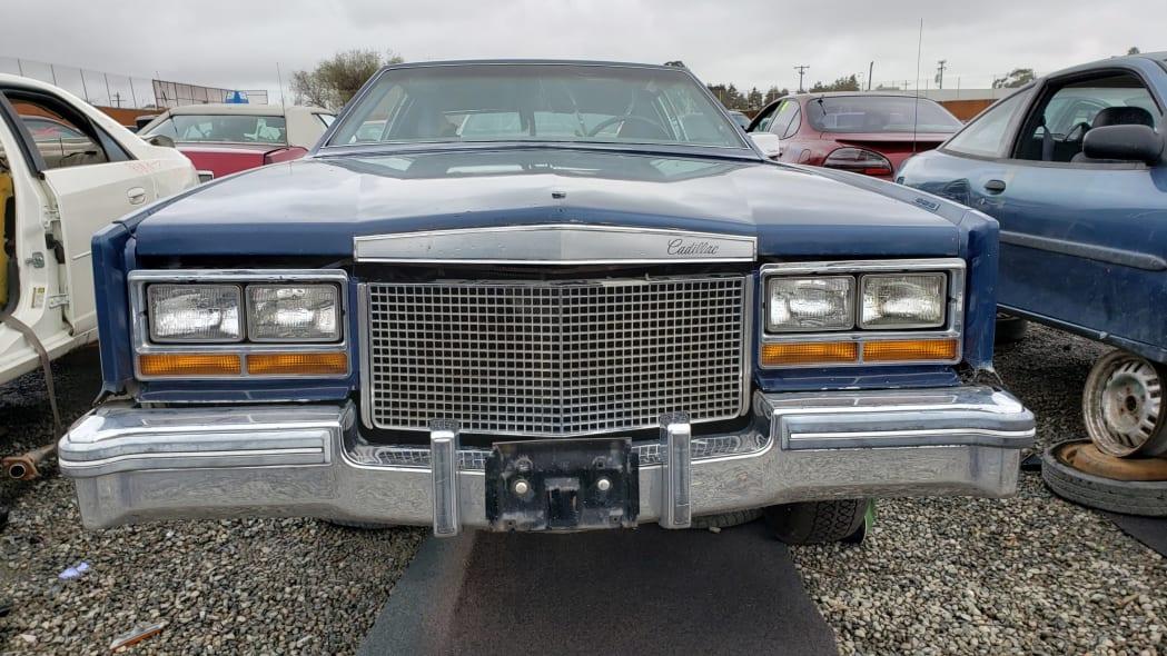 16 - 1981 Cadillac Eldorado in California wrecking yard - photo by Murilee Martin