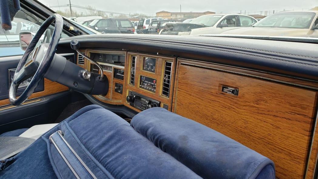 21 - 1981 Cadillac Eldorado in California wrecking yard - photo by Murilee Martin