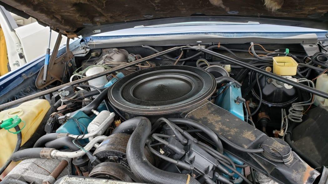 27 - 1981 Cadillac Eldorado in California wrecking yard - photo by Murilee Martin