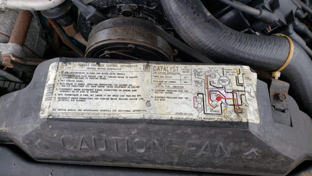 30 - 1981 Cadillac Eldorado in California wrecking yard - photo by Murilee Martin