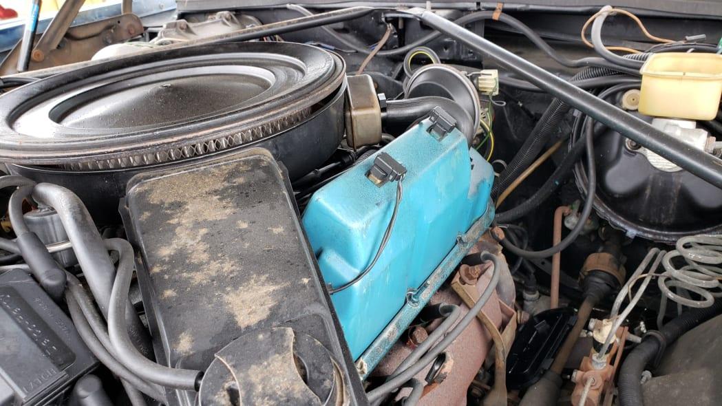 31 - 1981 Cadillac Eldorado in California wrecking yard - photo by Murilee Martin