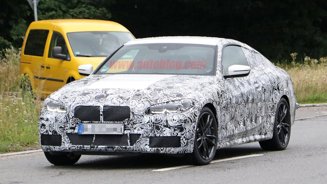 BMW 4 Series coupe looks sleek in light camouflage
