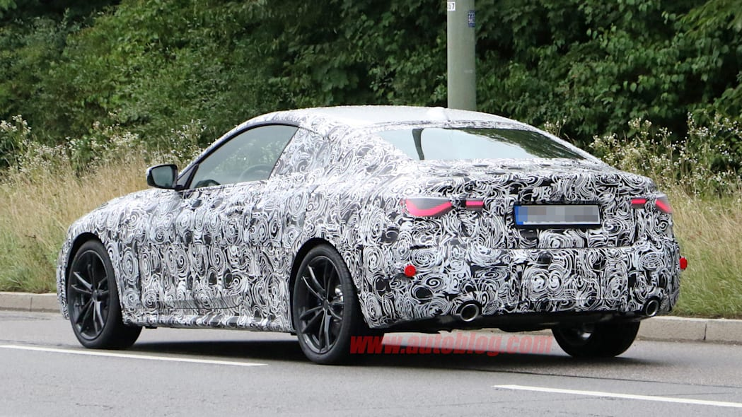 BMW 4 Series coupe in camouflage