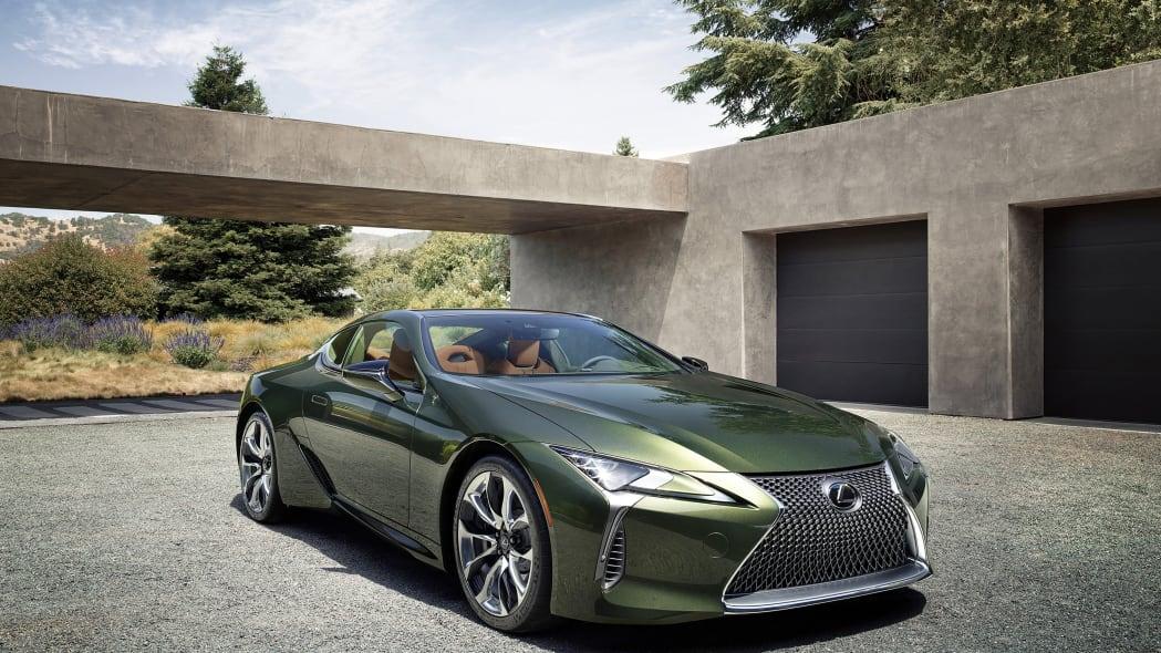2020 Lexus LC 500 Inspiration Series is a green goddess