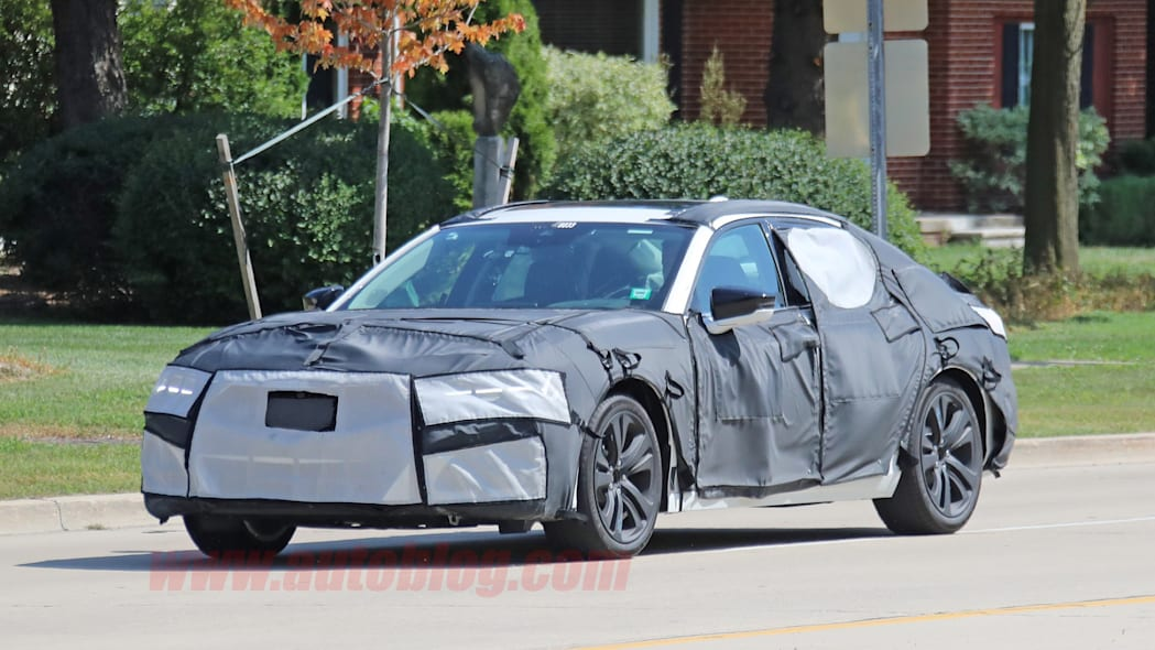 Next-gen Acura TLX spied out testing in heavy camouflage