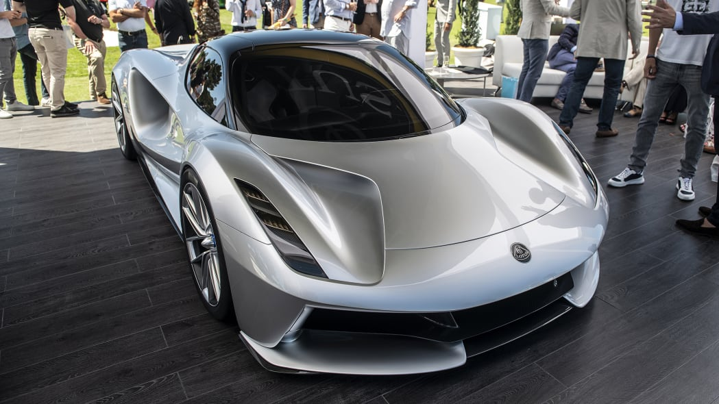 Lotus Evija whirs onto Quail lawn to tempt 130 prospective customers