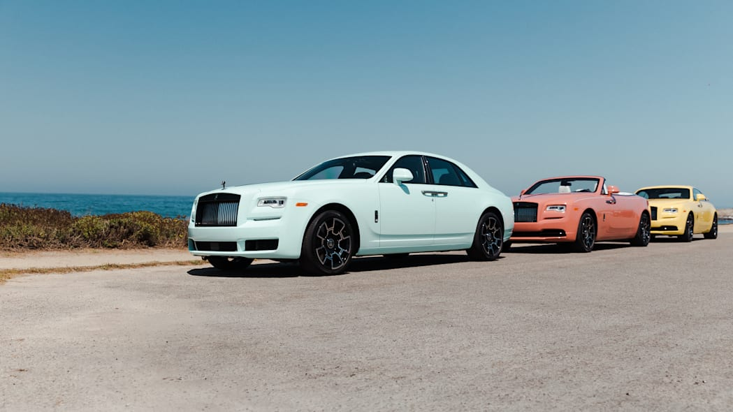Rolls-Royce presents the Ghost, Wraith, and Dawn in the Pebble B
