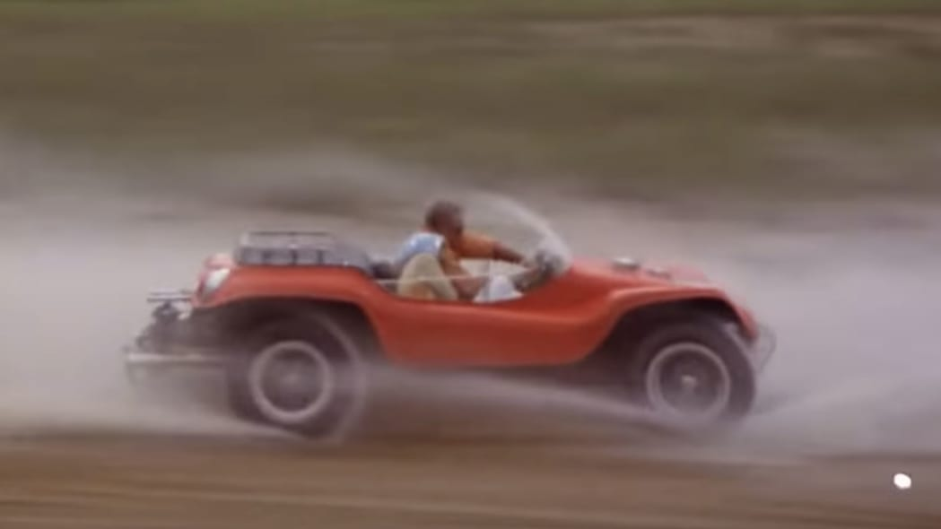 Steve McQueen driving the buggy