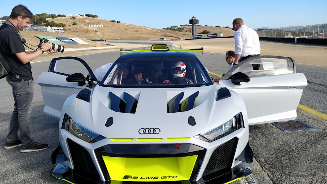 Audi R8 LMS GT2 tackles Laguna Seca during its first American outing