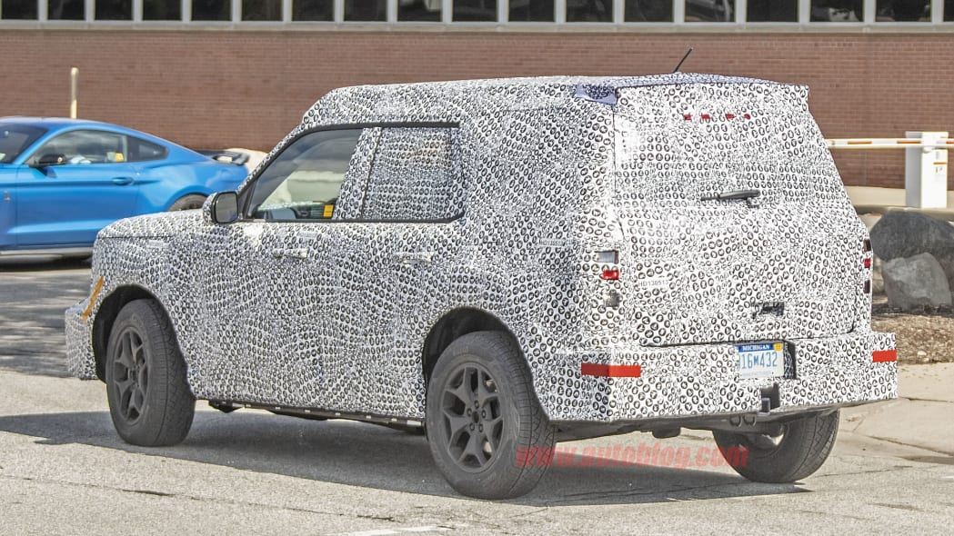 Ford Baby Bronco on the street in camouflage
