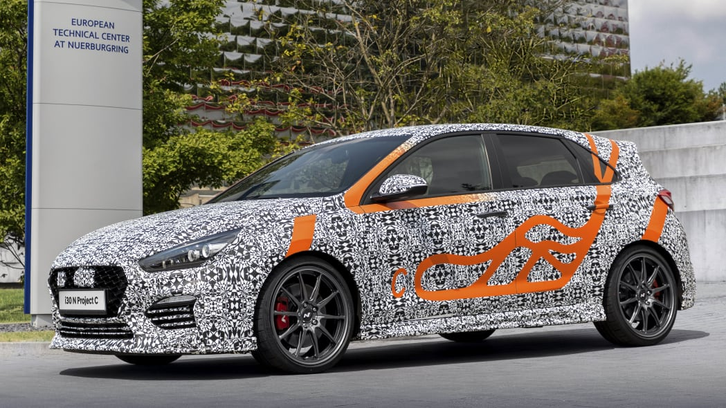 Hyundai i30 N Project C in camouflage