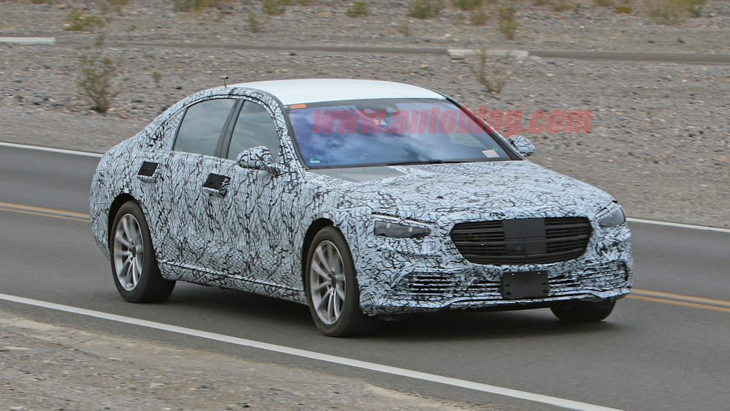 Mercedes-Benz S-Class in thin camouflage
