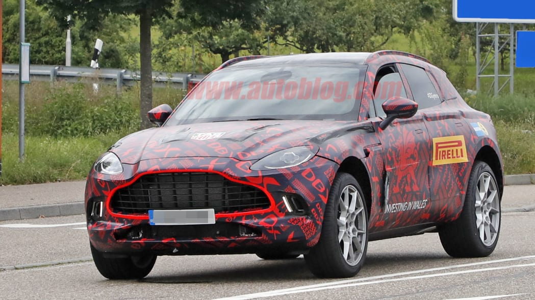 Aston Martin DBX spied looking like a finished product