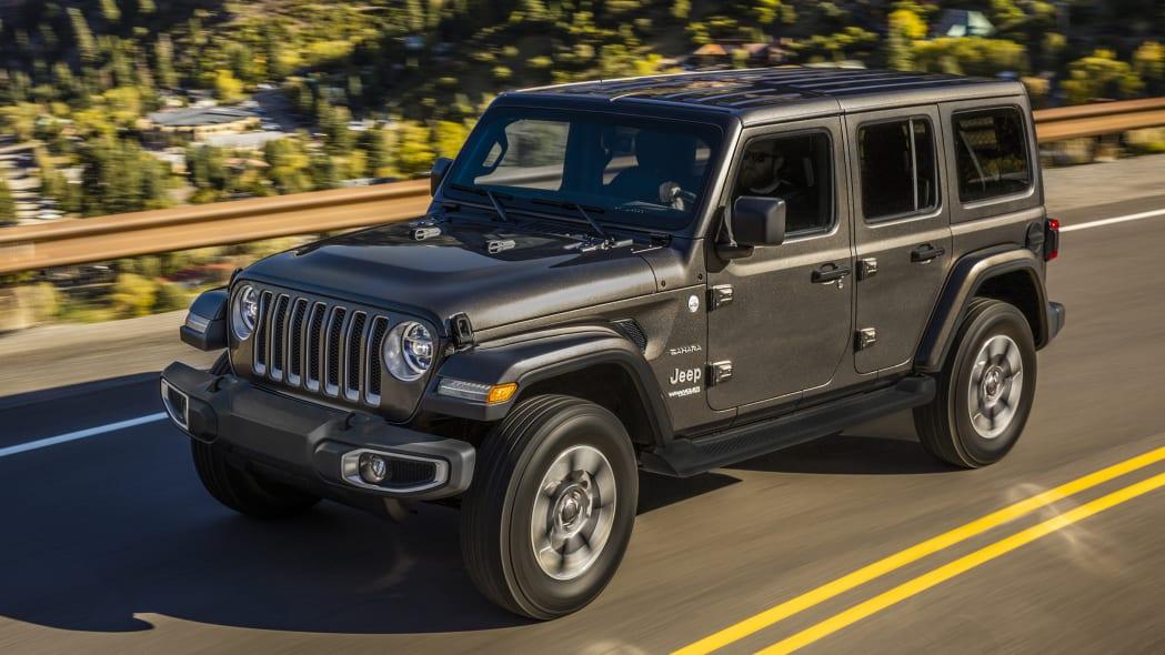2020 Jeep Wrangler Sahara in gray