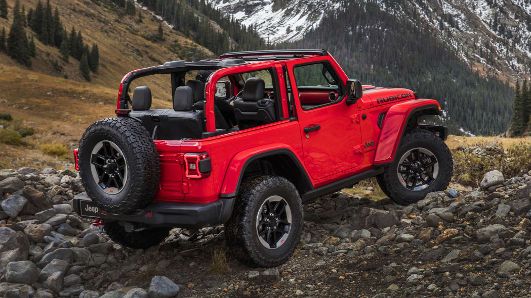 2020 Jeep Wrangler Rubicon in red