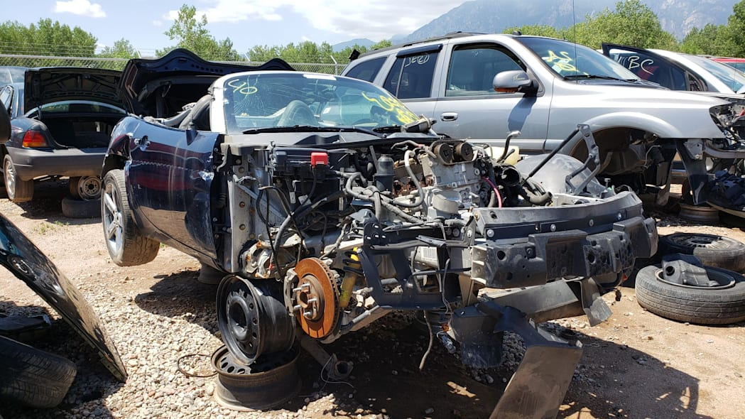 00 - 2006 Pontiac Solstice in Colorado wrecking yard - photo by Murilee Martin