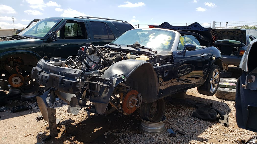 10 - 2006 Pontiac Solstice in Colorado wrecking yard - photo by Murilee Martin