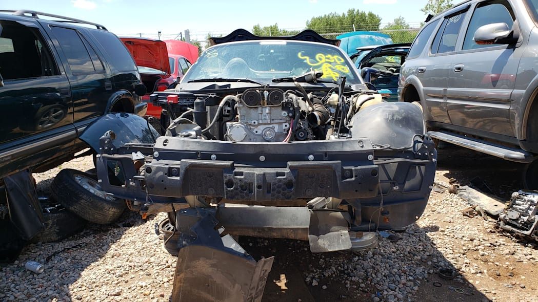 12 - 2006 Pontiac Solstice in Colorado wrecking yard - photo by Murilee Martin