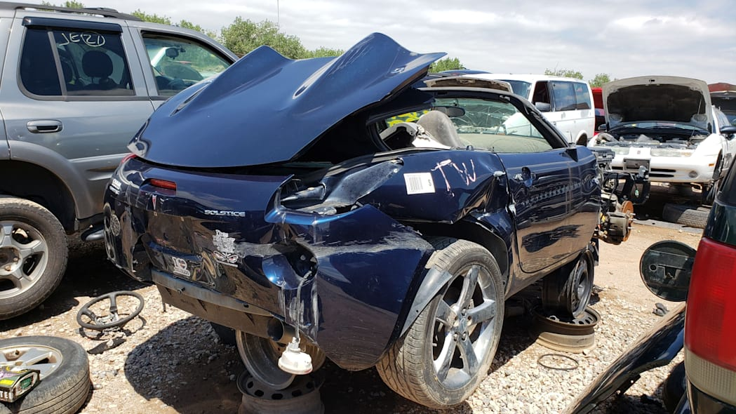 19 - 2006 Pontiac Solstice in Colorado wrecking yard - photo by Murilee Martin