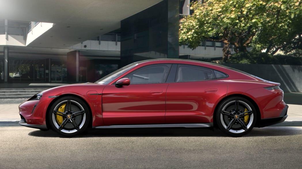 2020 Porsche Taycan in Carmine Red