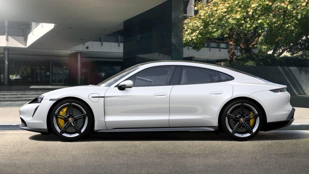 2020 Porsche Taycan in white